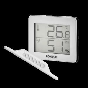 Гигрометр-термометр электронный X200 + Антимикробный серебряный стержень Boneco