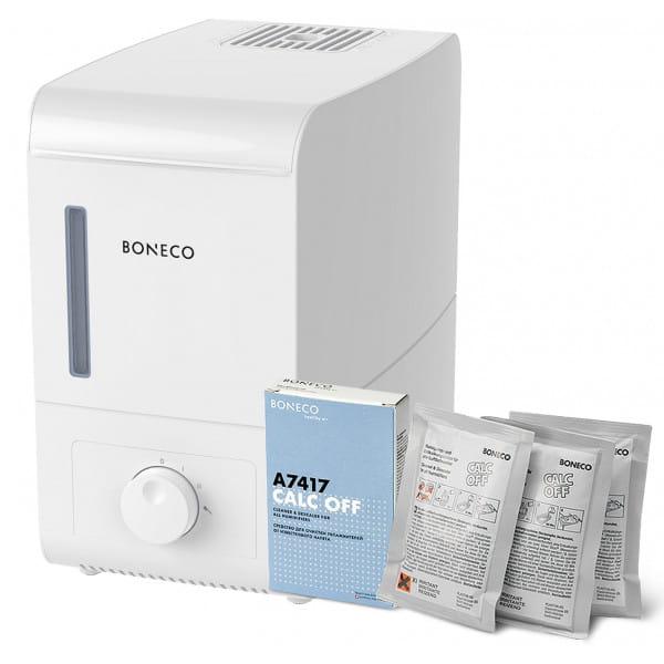 Паровой увлажнитель воздуха Boneco S200 + Очиститель накипи Calc Off Boneco (3 штуки) в подарок!